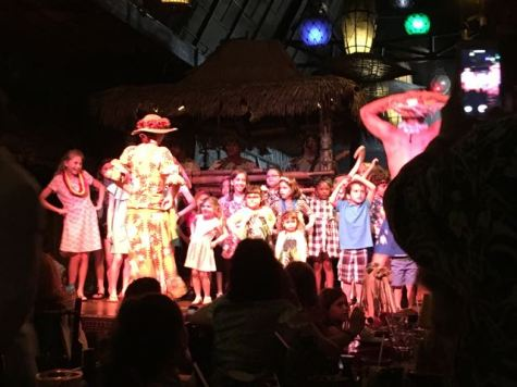 Kids invited onstage to dance