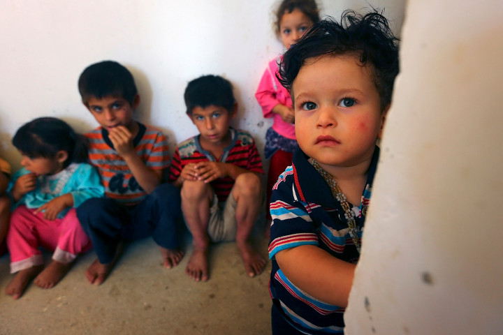 Some children of Iraqi Christians who fled their homes earlier this summer.