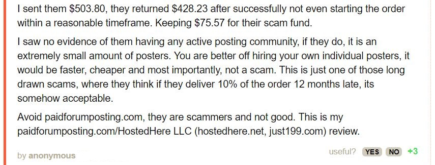 paid forum posting review