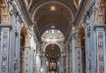 baroque vatican rome architecture st italy peter basilica description walls