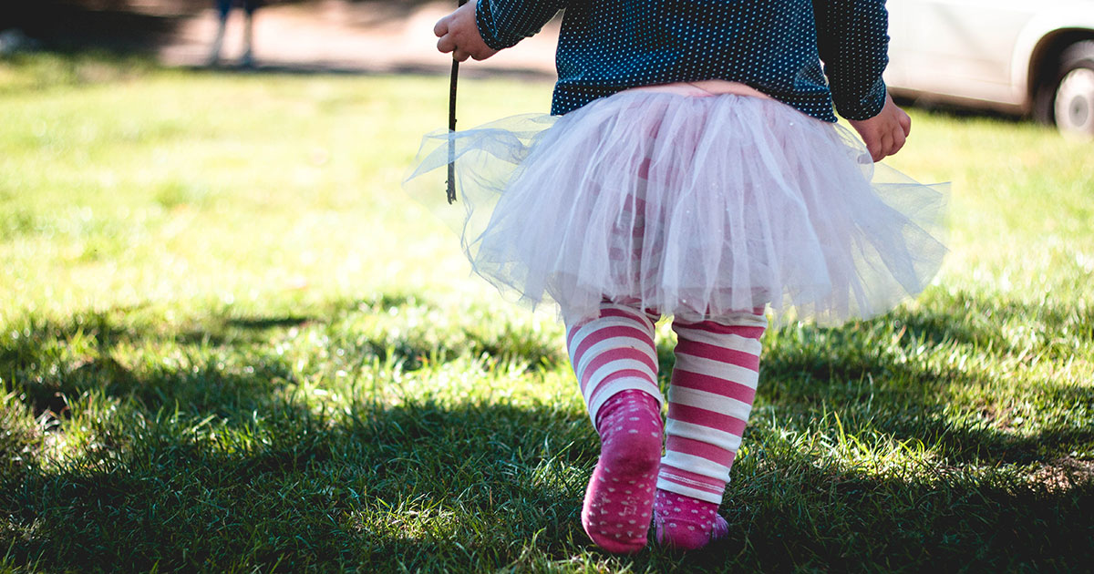 Child walking in tutu, by Marjorie Bertrand via Unsplash