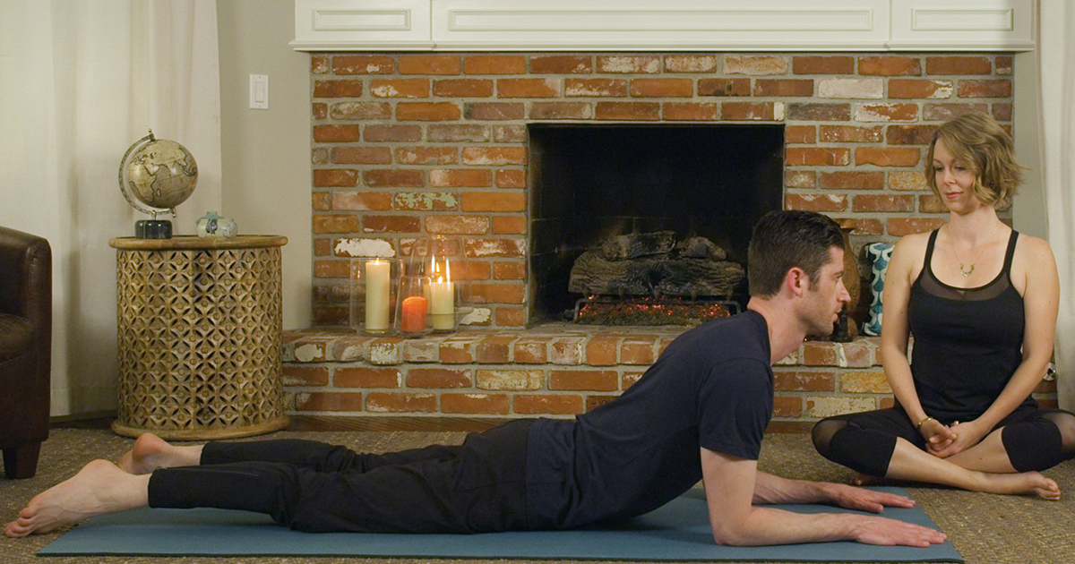 Sphinx yoga pose helps with back pain, urinary incontinence, and interstitial cystitis