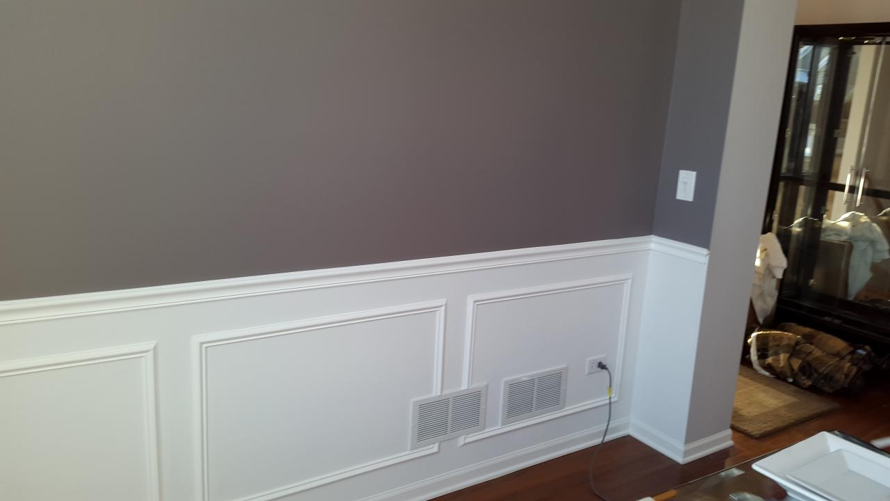 picture frame moulding below chair rail target stretchy covers naperville painting painters interior after installing and frames