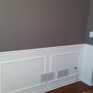 picture frame moulding below chair rail covers for rent cheap naperville painting painters interior after installing and frames