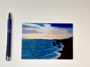 Soft Pastel Seascape Greetings Card