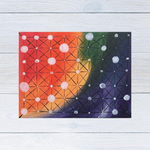 Connection themed Christian abstract painting by Yours Faithfully Hannah Kirk