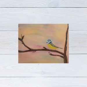 Blue Tit Drawing using soft pastels and pastel pencils on pastel paper.