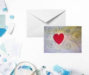 Love Spirals Greeting Card by Yours Faithfully Hannah Kirk