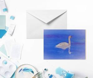 Cygnet in Transition Greeting Card by Yours Faithfully Hannah Kirk