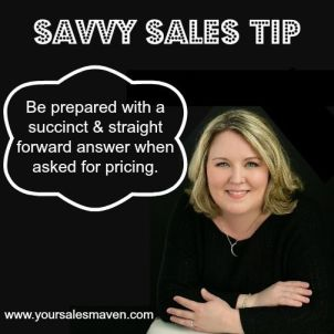 client question, pricing question, savvy sales tip
