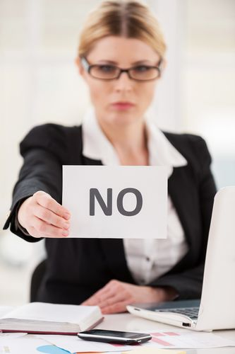 how to say no, saying no to pushy people, client relations, customer service, savvy sales tip