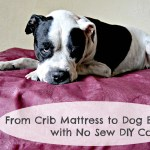 From Crib Mattress To Dog Bed With No Sew Diy Cover Your Sassy Self