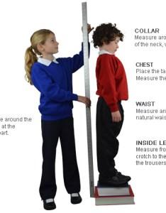 Ysu size guide models also clothing your school uniform rh yourschooluniform