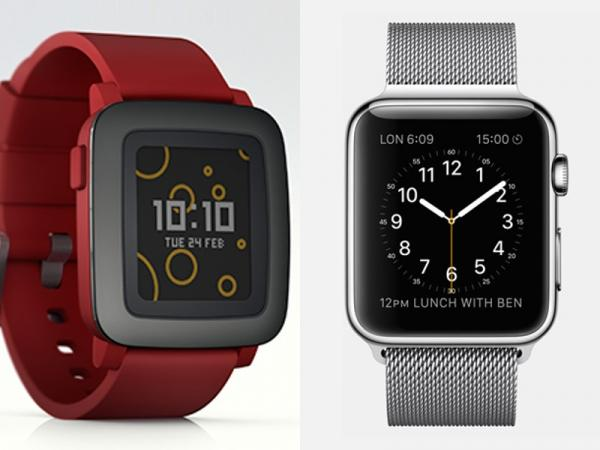 Pebble Time Smartwatch Apple Watch