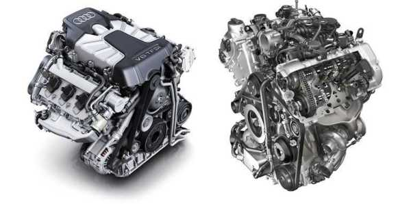 Turbocharged V6 and V8 Audi and Porsche Engines