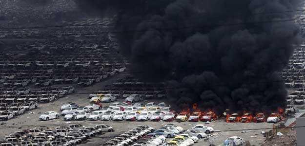china's port blast