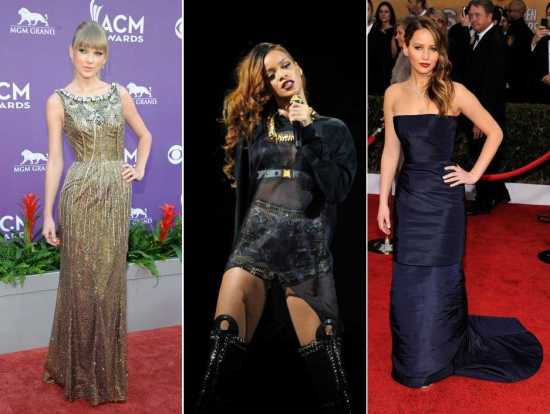 Jennifer Lawrence; Rihanna and Taylor Swift Prom Dress