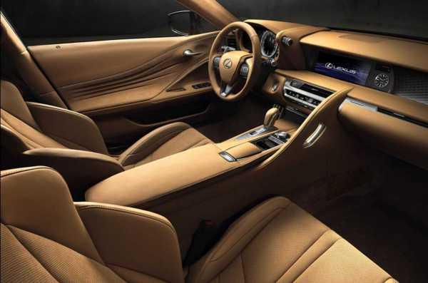 Lexus LC 500 Coupe interior
