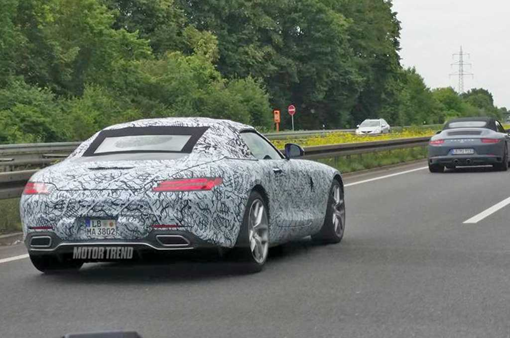 Mercedes AMG GT Convertible Spotted On Road, Spy Pictures Emerge