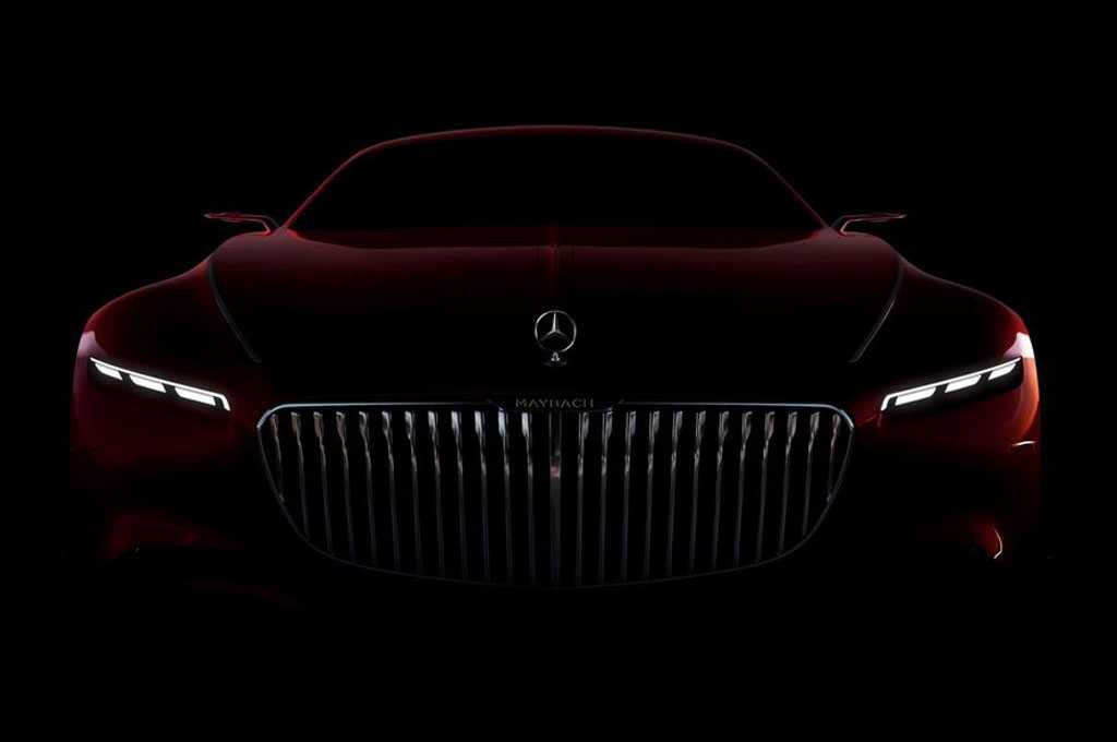 Mercedes Maybach 6 Concept Teaser Showcases Front Fascia