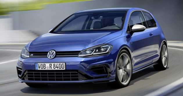 Volkswagen Golf R Gets Facelifted with New Looks and Slightly Better Performance