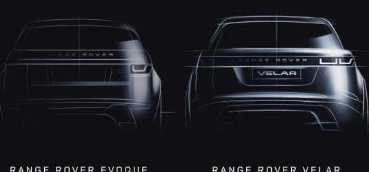 Range Rover Velar and Evoque