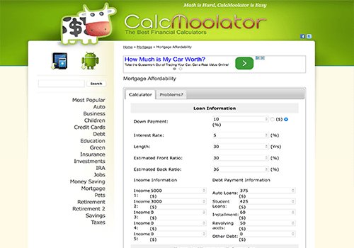 CalcMoolator Calculator Widgets