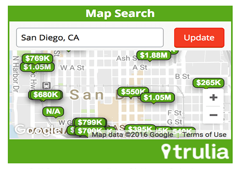 Trulia Map Search Widget