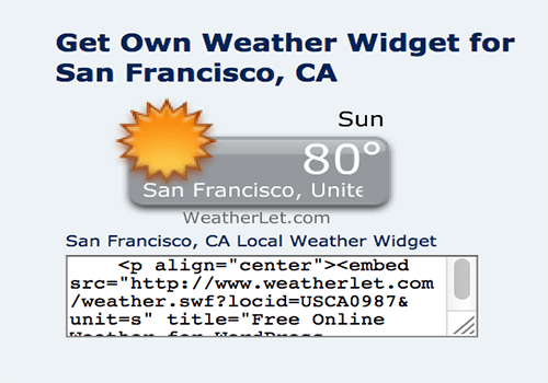 Weatherlet Weather Widget