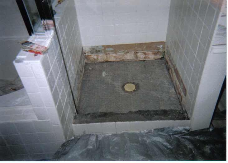 DAMAGED SHOWER PICTURES  BathKitchen solutions by YOURSON