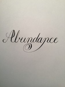 Abundance Word of the Year