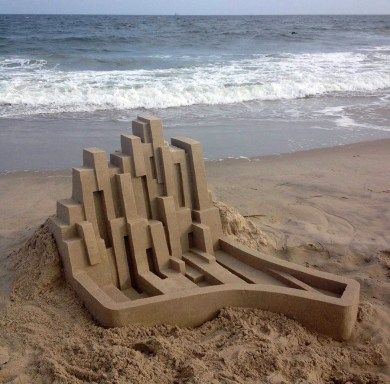 Mind-blowing-Geometric-Sandcastles-by-Calvin-Seibert-3