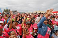 Participants of the SPAR Women's Challenge in Port Elizabeth enjoyed the entertainment offered. Photo: Leon Hugo