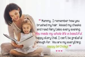 Loving Happy Birthday Mom from Daughter