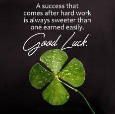 Good Luck status