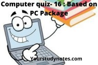Computer quiz-16 based on pc package