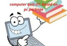 computer quiz 21 based on pc package