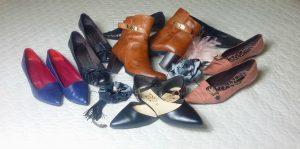 scarpe basse e con tacco