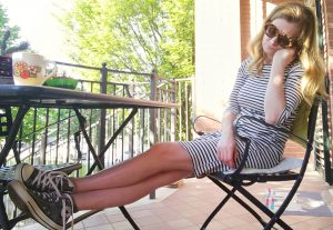 breton stripes dress