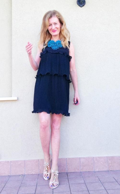 A shaped dress
