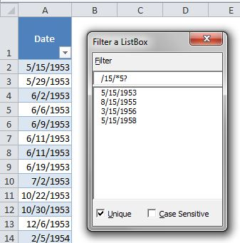 ListBox Filter With Wildcards and Unique Values - yoursumbuddy