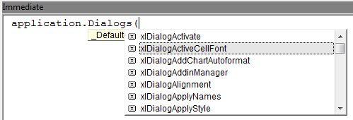 dialogs list