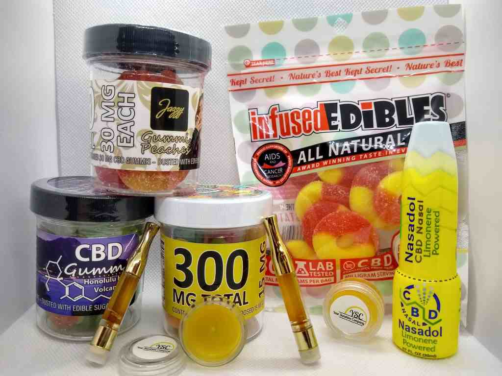 assorted gummis infused edibles and nasadol