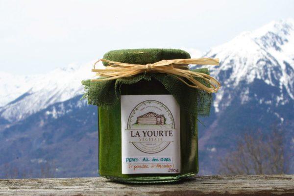 pesto à l'ail des ours naturopathie nature ferme bio yourte végétale saint françois longchamp savoie bien être