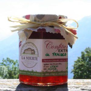 confiture de fraises de la yourte permaculture nature ferme bio yourte végétale saint françois longchamp savoie
