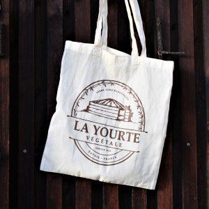 tote bag sac en coton la yourte végétale soins naturopathie nature ferme bio saint françois longchamp savoie