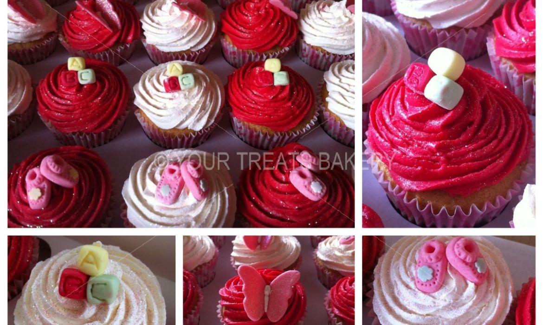 Blocks & Booties Cupcakes