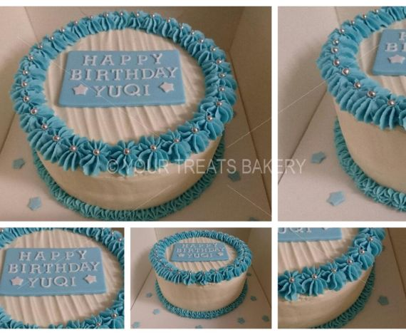 Buttercream Delight Blue Cake