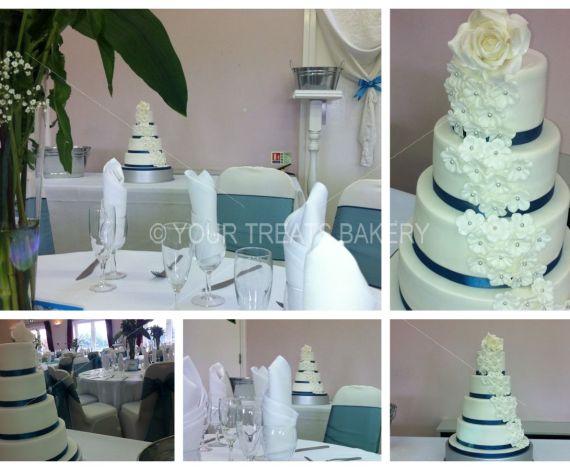 Cascading Elegance Wedding Cake
