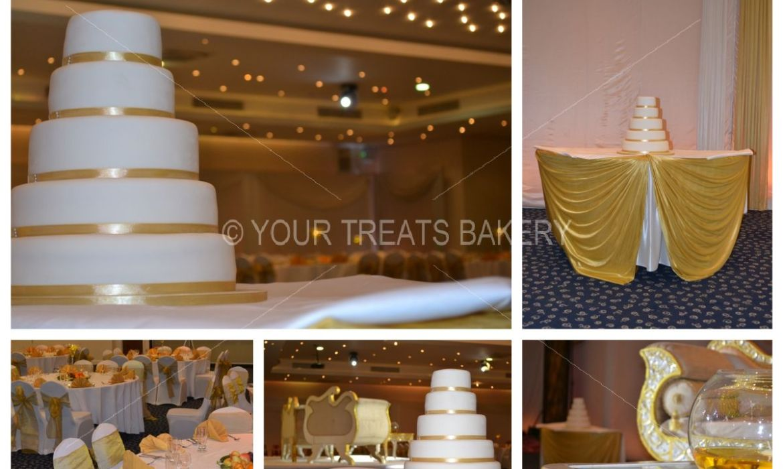 Gold in 5 Steps Wedding Cake